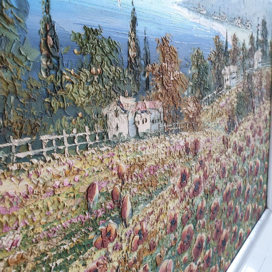 Oil Painting of flower fields