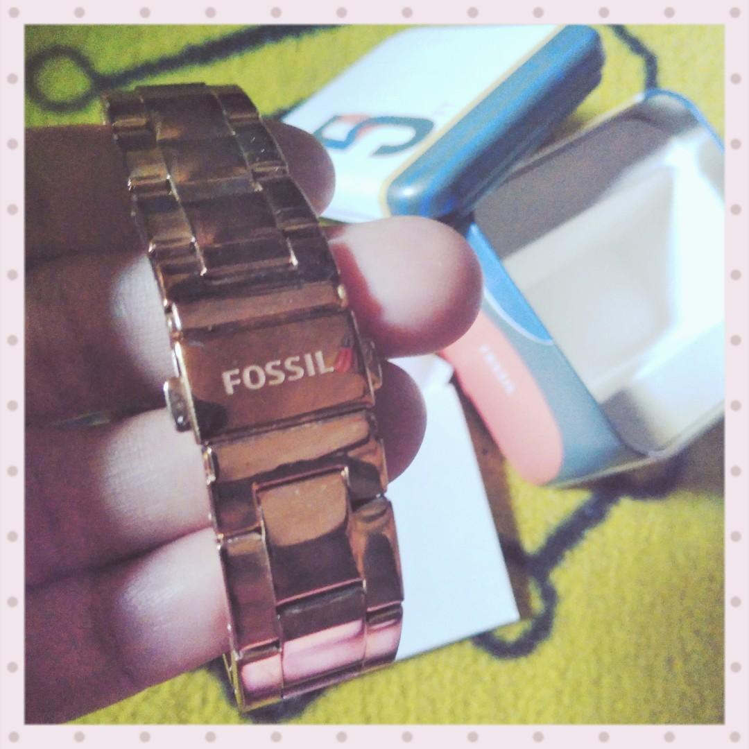 (ORIGINAL) Preloved Woman Watch~ Fossil Stella ES3863 - Rose Gold Tone