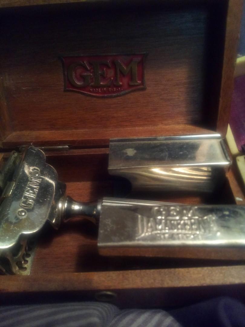 Pair of antique shaving kits