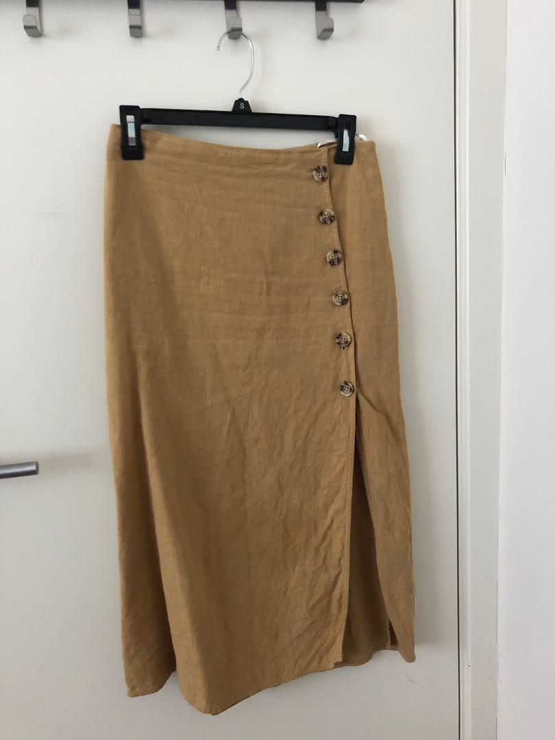 Paper heart long skirt