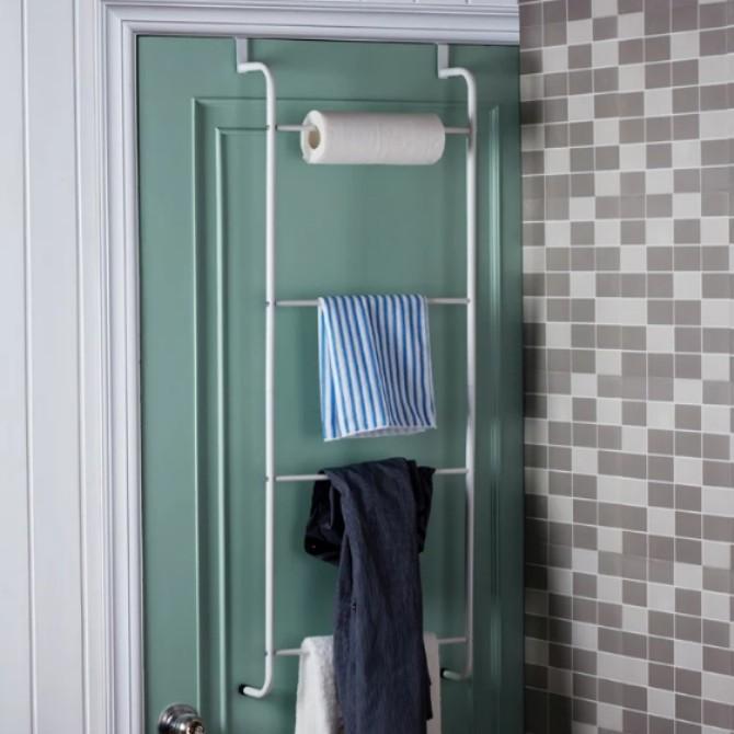 New Design Multifunctional Metal 3-Layer Trapezoidal Free Nail Hanging Over Door