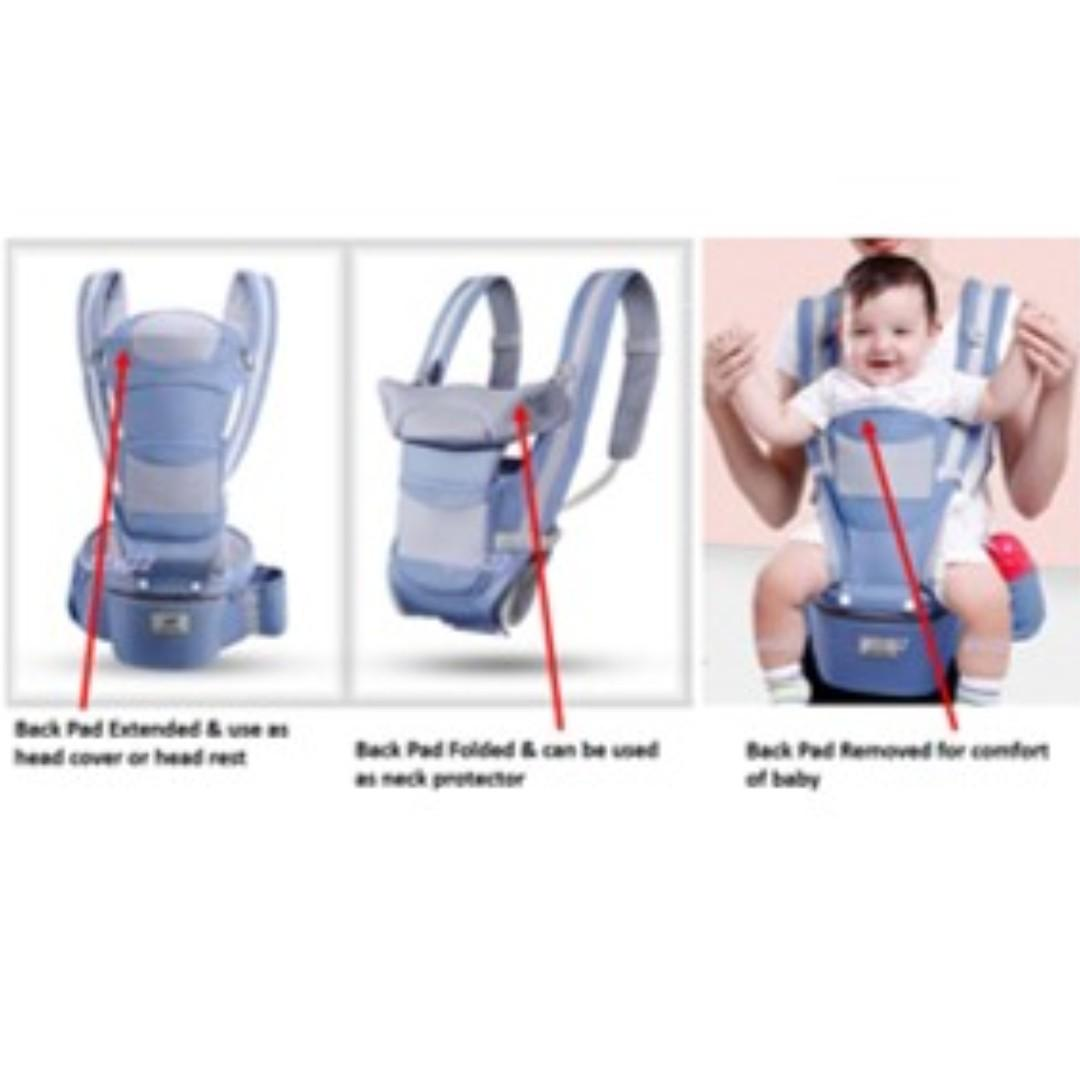 Ready Stocks - Baby Hip Seat Backpack Sling Storage Carrier 3-in-1 for Newborn & Beyond