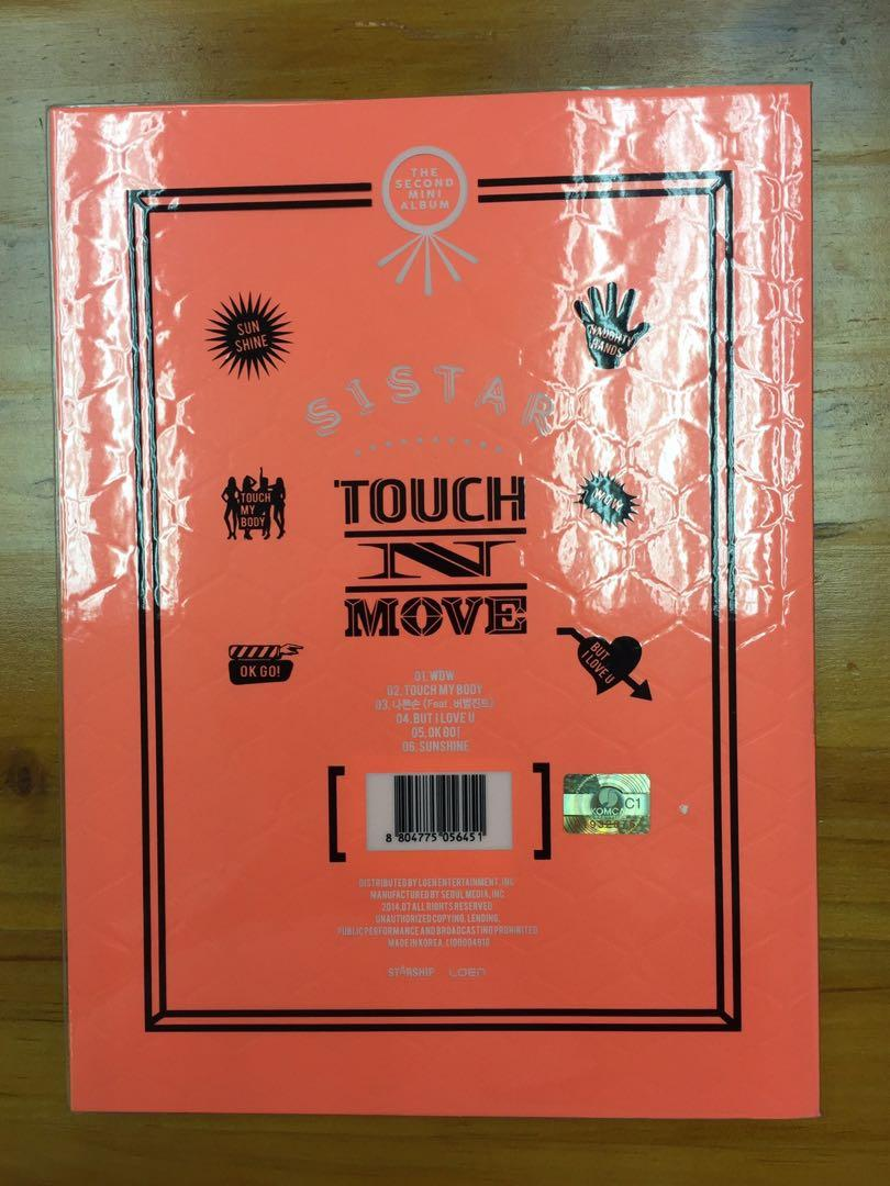 "SISTAR 2nd Mini Album ""TOUCH N MOVE"" + photobook"