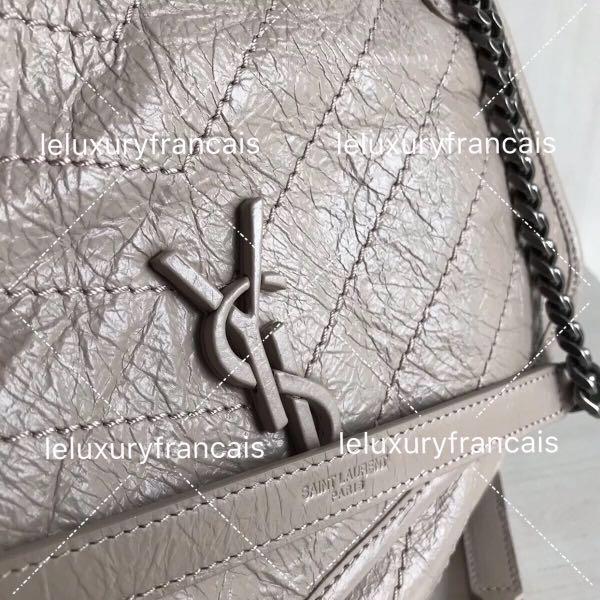 S.L Niki Baby / Medium (22/28) Shoulder Bag (Colors Black, White, Grey, Burgandy, Red and etc.)
