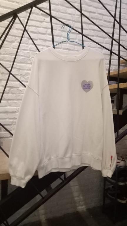 SPAO x Sailor Moon Sweater - Moon Crystal Power White