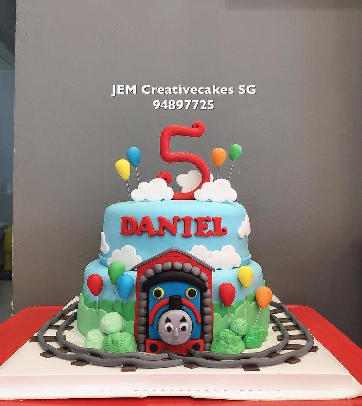 Phenomenal Thomas Train Birthday Cake Food Drinks Baked Goods On Carousell Personalised Birthday Cards Paralily Jamesorg