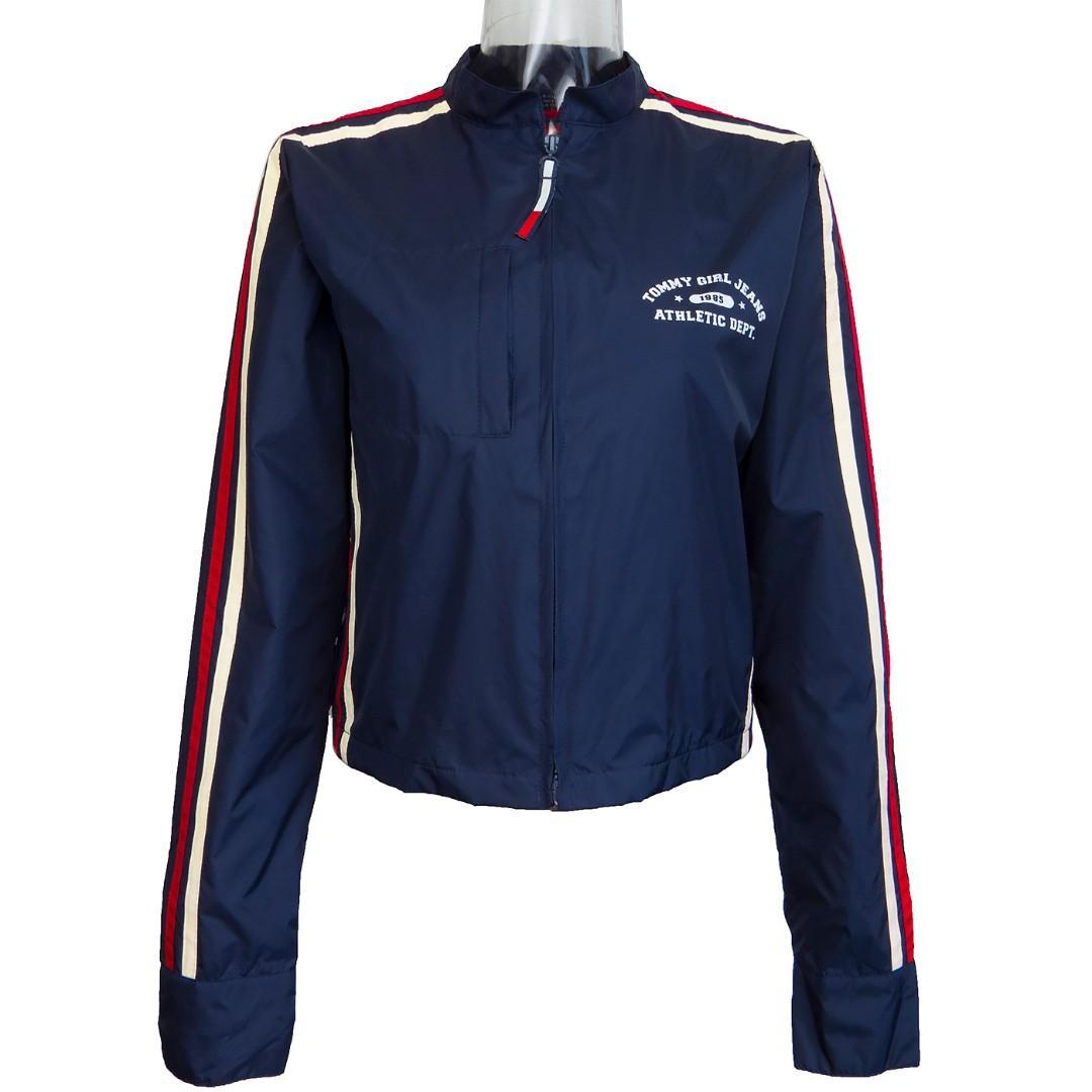 美國大牌Tommy Hilfiger深藍色立領防風長袖外套 M號