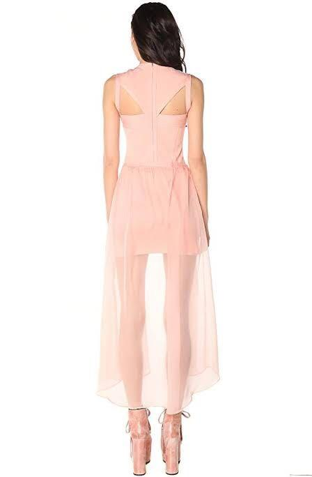 UNIF Godspeed Bondage Dress in Pink Nude Size Medium Dollskill Nasty Gal Formal