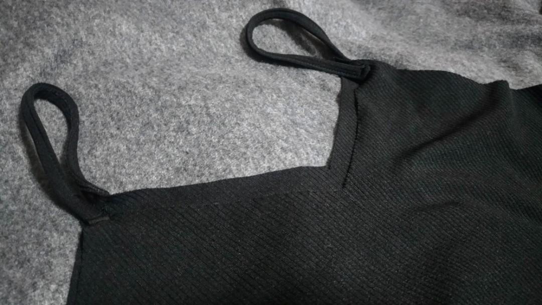 V領吊帶長裙