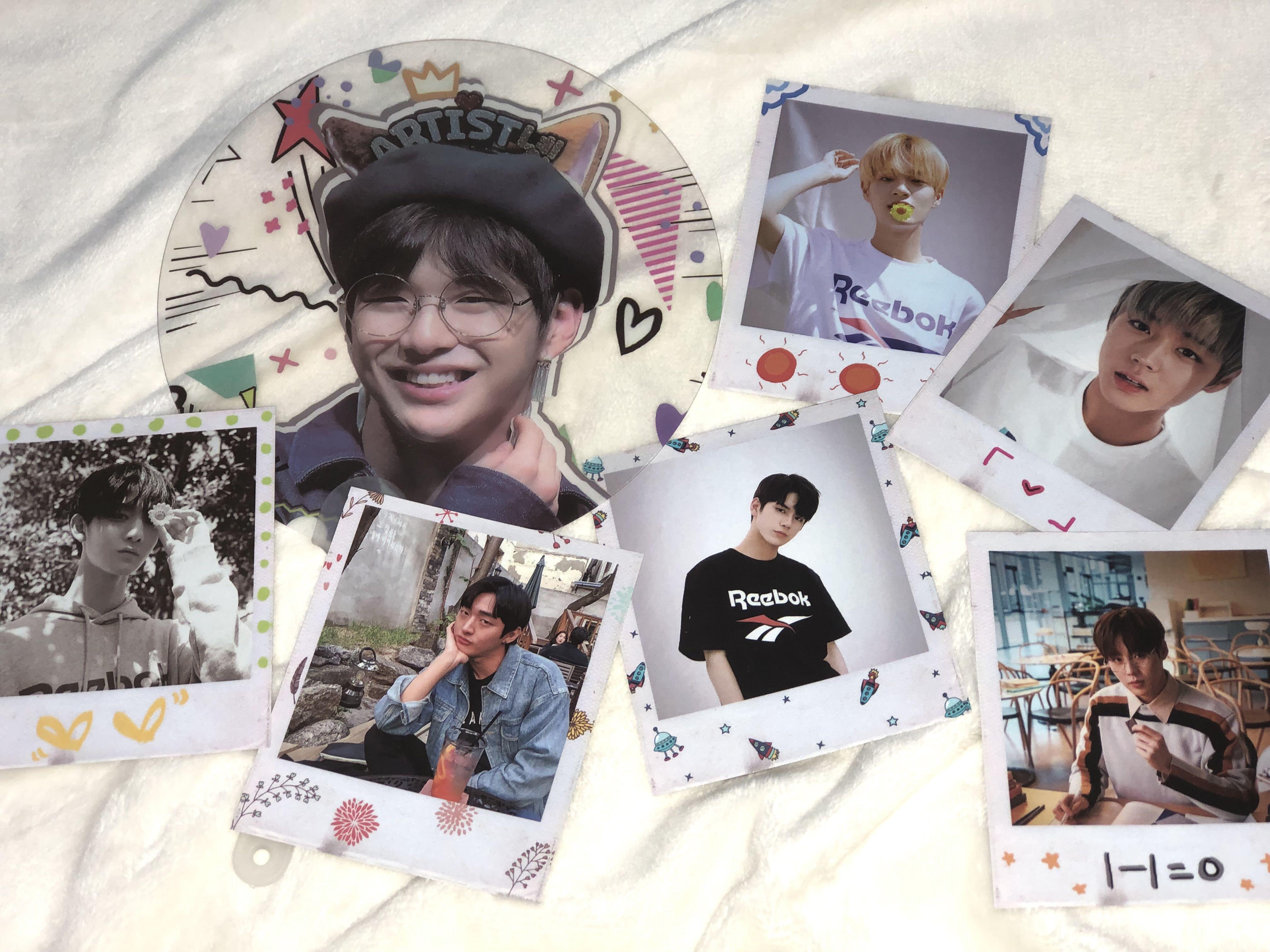 Wanna One Freebies (Daniel Transparent Fan + Photocards)