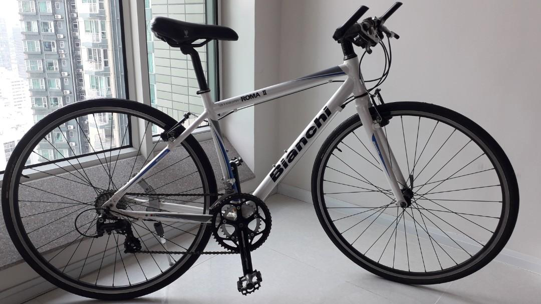 White Bianchi Aluminium Cross Bike