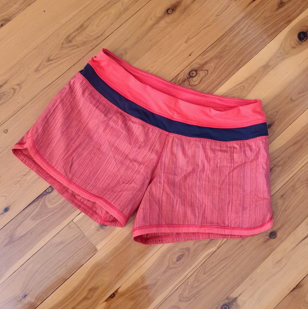 Women's size 8 =12 aus 'LULULEMON' Gorgeous red and black shorts - AS NEW
