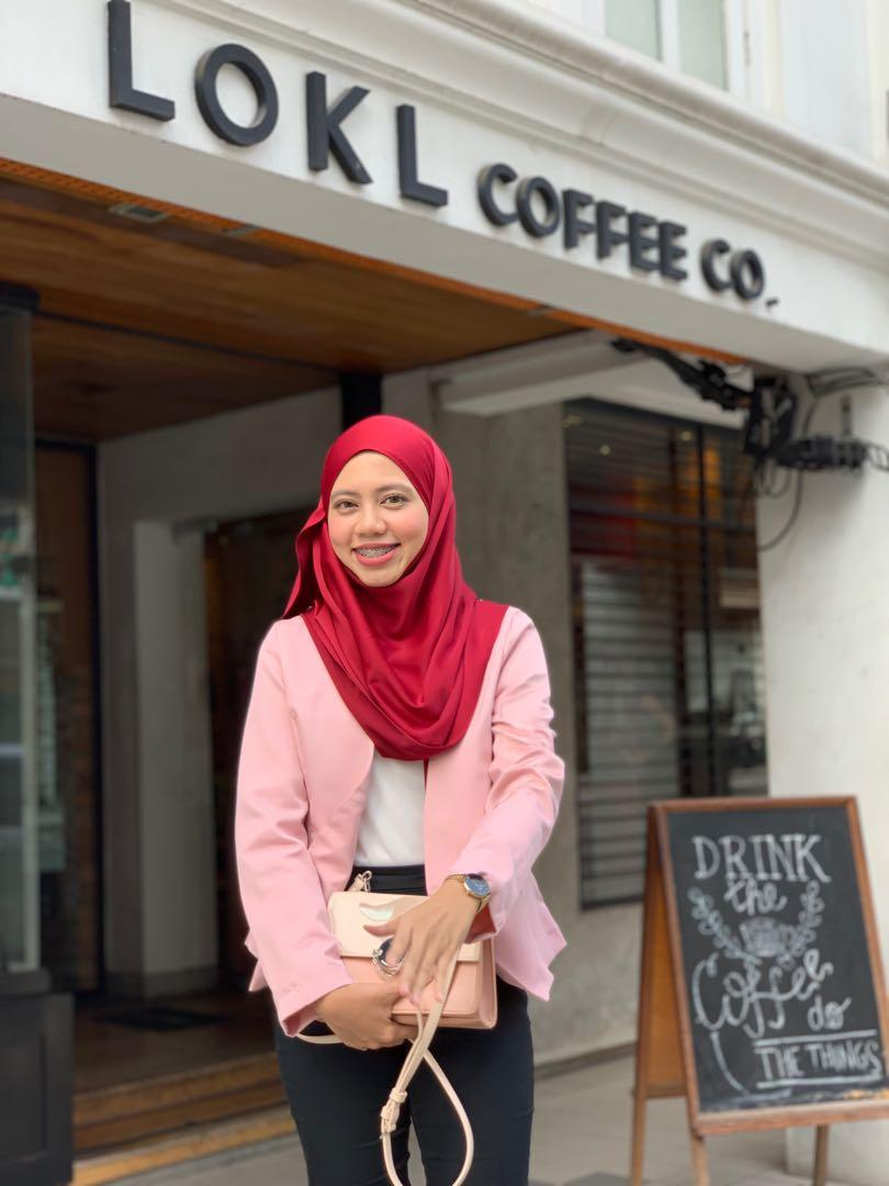 Zalora Soft Blazer Light Pink