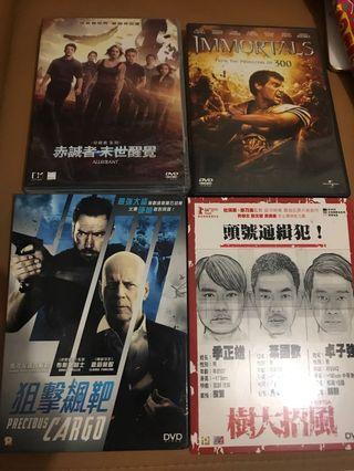 電影DVD 4隻