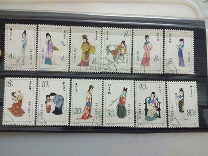 China dream of red mansions 1981 full set 12 stamps