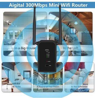 Aigital WiFi Router Long Range Extender 300M Wi-Fi Signal Booster Wireless Hotspot Access Point AP Repeater