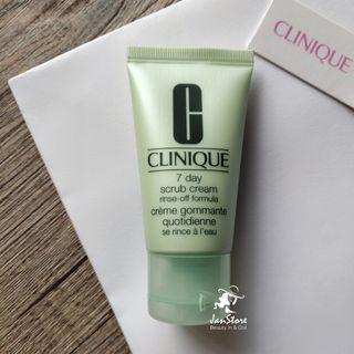 Authentic Clinique 7 Day Scrub Cream Rinse-Off Formula 30ml