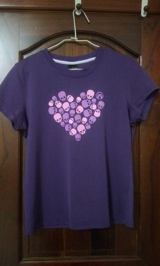 紫色 簡單 素色T-shirt