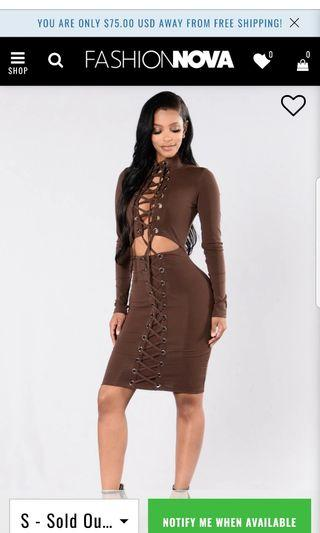Fashionnova dress size small