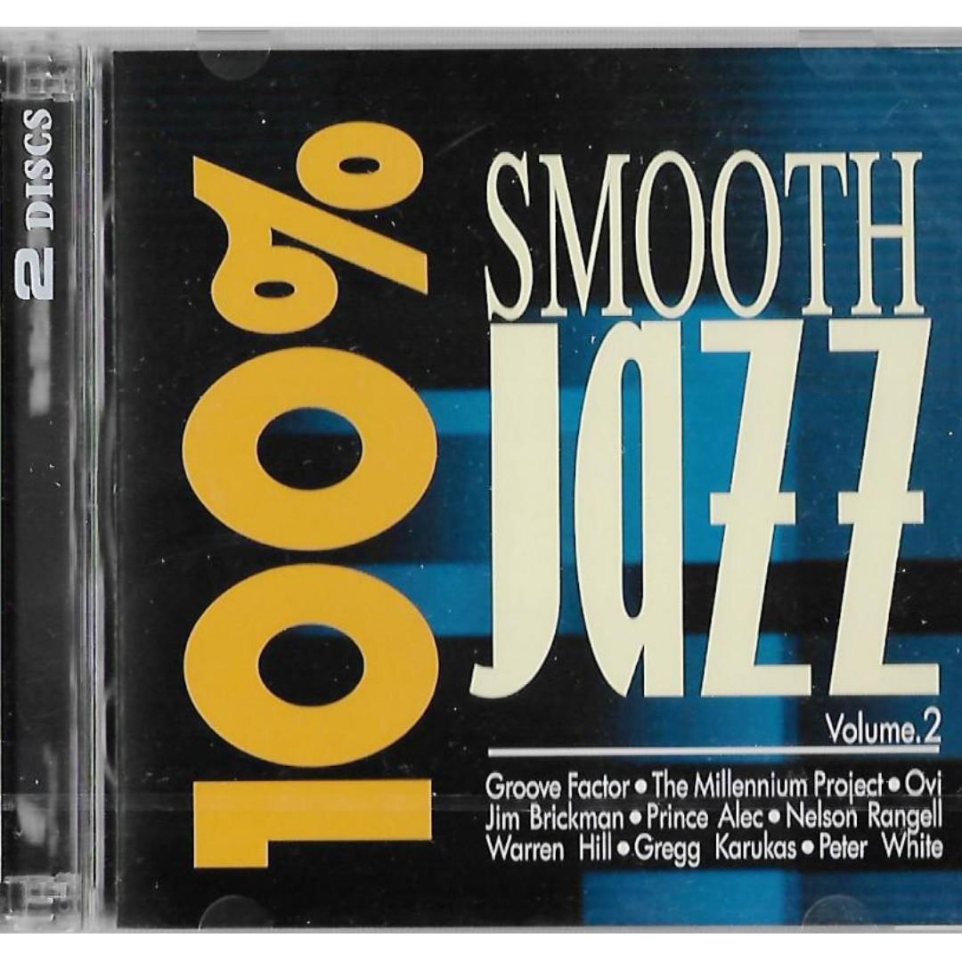 100% Smooth Jazz Vol.2 CD Warren Hill Peter White Gregg Karukas Jim Brickman Free Shipping
