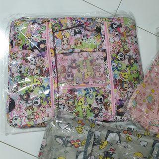 Brand new 6pcs Tokidoki-alike Travel storage bags (travel organiser)