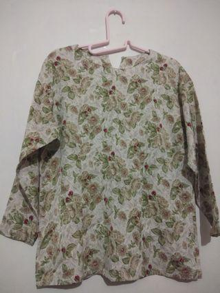 Blouse Flowers Lucu