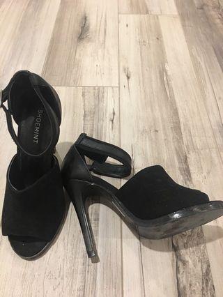 Cute black party heels