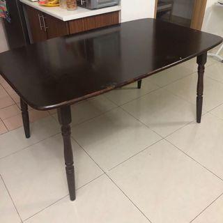 Meja makan Dining table kayu 6 orang