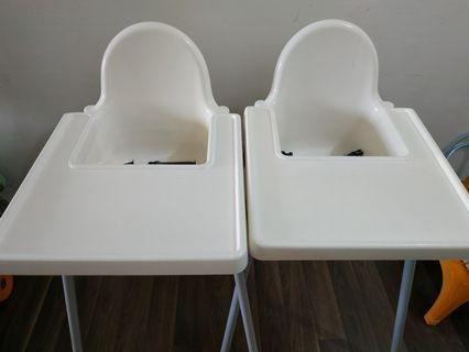 Ikea Baby Chair with belts and tray table