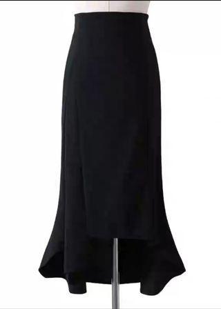 高腰a字不規則魚尾裙
