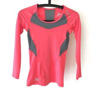🚚 2XU Women's Compression Long Sleeve Top, Coral Grey