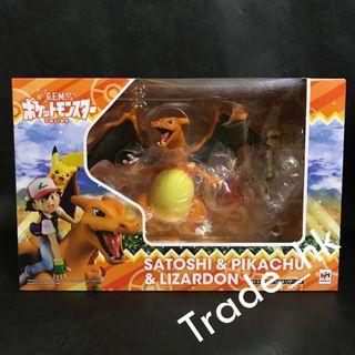 19年7月再販新貨!最後數盒現貨!全新未開封 日版 Megahouse GEM 噴火龍 & 比卡超 & 小智 寵物小精靈 Pokemon