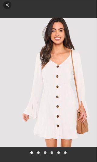 BNWT - White Flowy Summer Dress