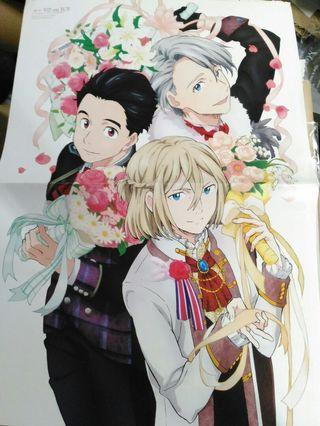 冰上的尤里yuri on ice A3拉頁海報 poster