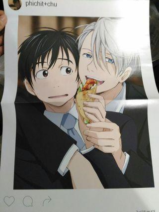 冰上的尤里yuri on ice A3 拉頁海報 poster