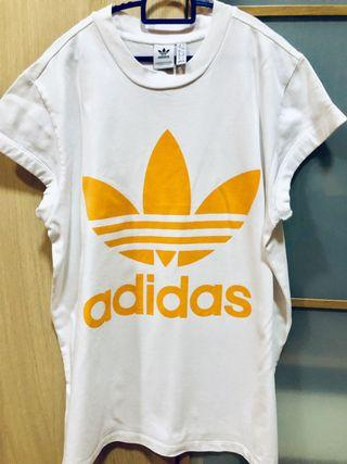Adidas Orange Logo Tee