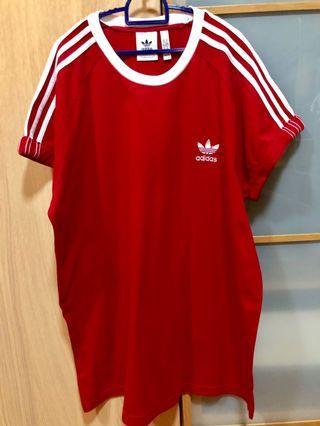 Red Adidas Big Tee