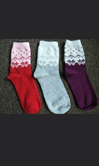 🚚 BUY 3 FREE 1! BNIB Mixed Wool Mid Length Socks