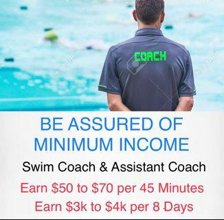 Children Swimming Coach or Swim Instructor as a Career