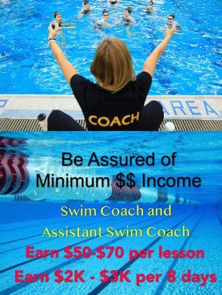 Kids Swim Coach & Assistant Swim Coach as a Career