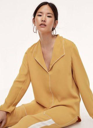 BNWT aritzia babaton rena shirt/blouse sz s