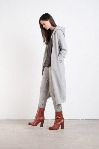 Oak + Fort Longline Hooded Sweater