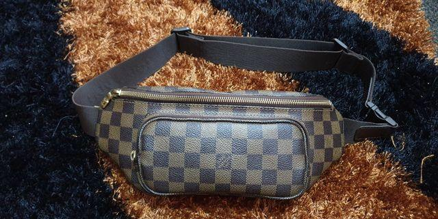 Authentic Louis Vuitton Damier Ebene Melville Waist Bag