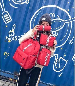 [ Backpack Set ] Supreme 4 in 1 Backpack Set #cutebag #backpack #backpackset #CarousellBetter