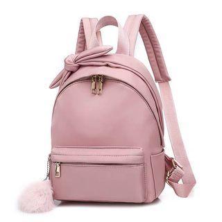 [ Backpack ] Cute Ribbon Fur Ball Backpack #cutebag #backpack #CarousellBetter