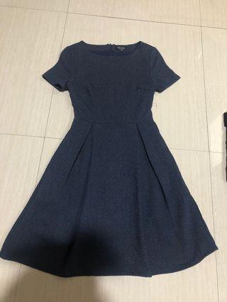 Navy dress by Zalora