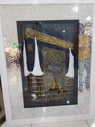 Glass pieces Kaabah door art frame