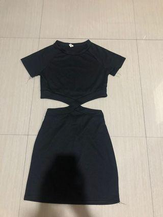 Black twisted dress