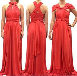 MUST GO! Coral Infiniti Dress - one size