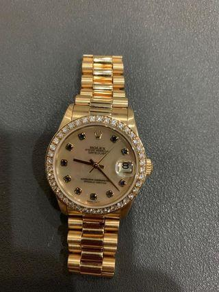 🚚 Rolex Boys Datejust 18K Yellow Gold MOP
